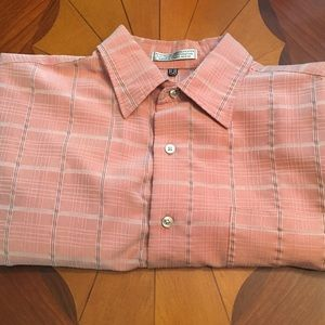 Salmon GB Short Sleeve Button-Up